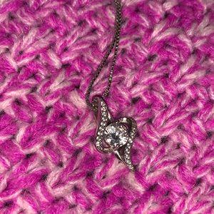 Swirl Diamond Necklace
